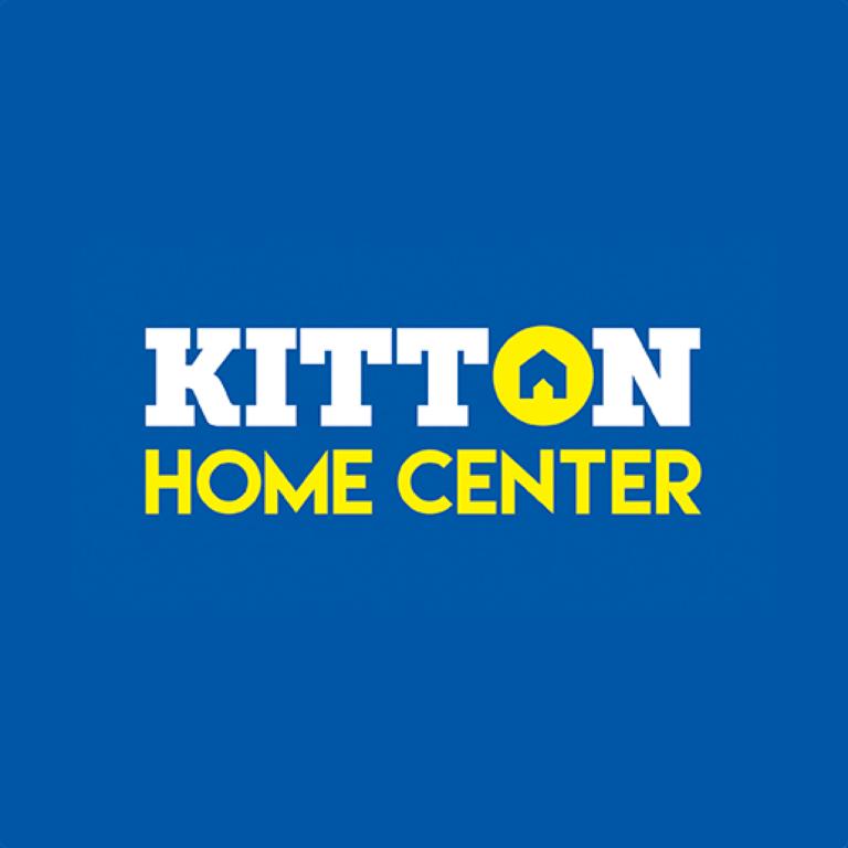 Logo - kitton Home Center - fondo azul - Formato JPEG