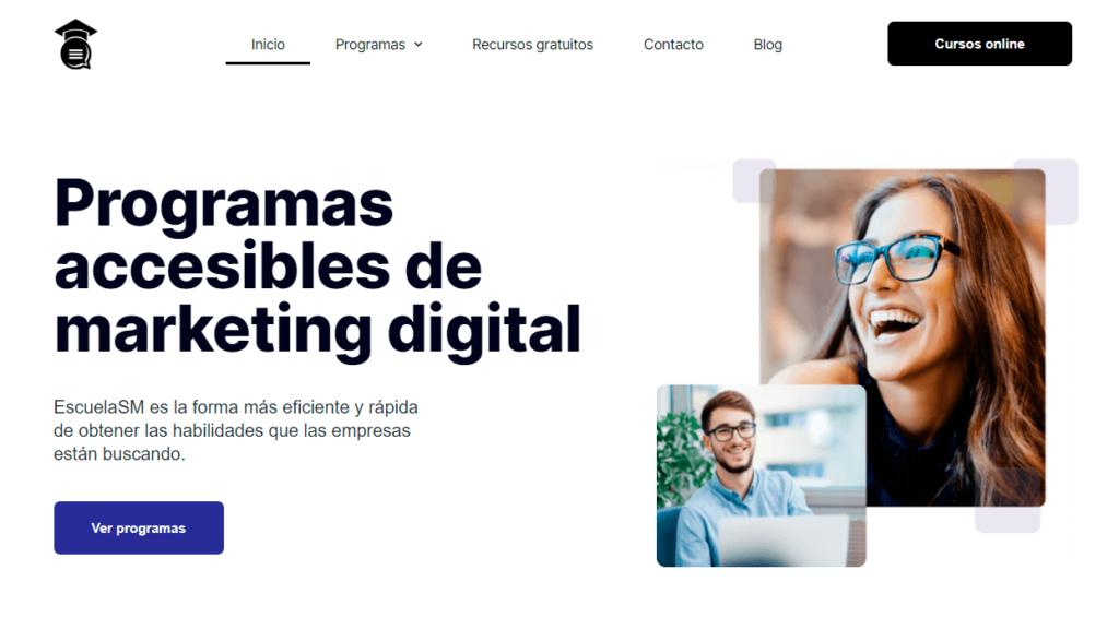 Ejemplo de copy - landing page - EscuelaSM