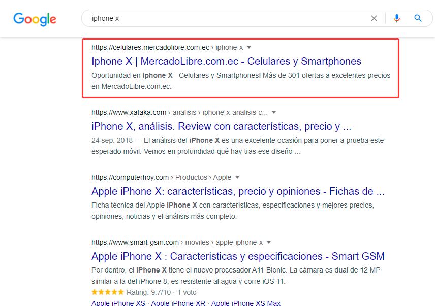 Posicionar En Google - Ejemplo De Analizar Competencia