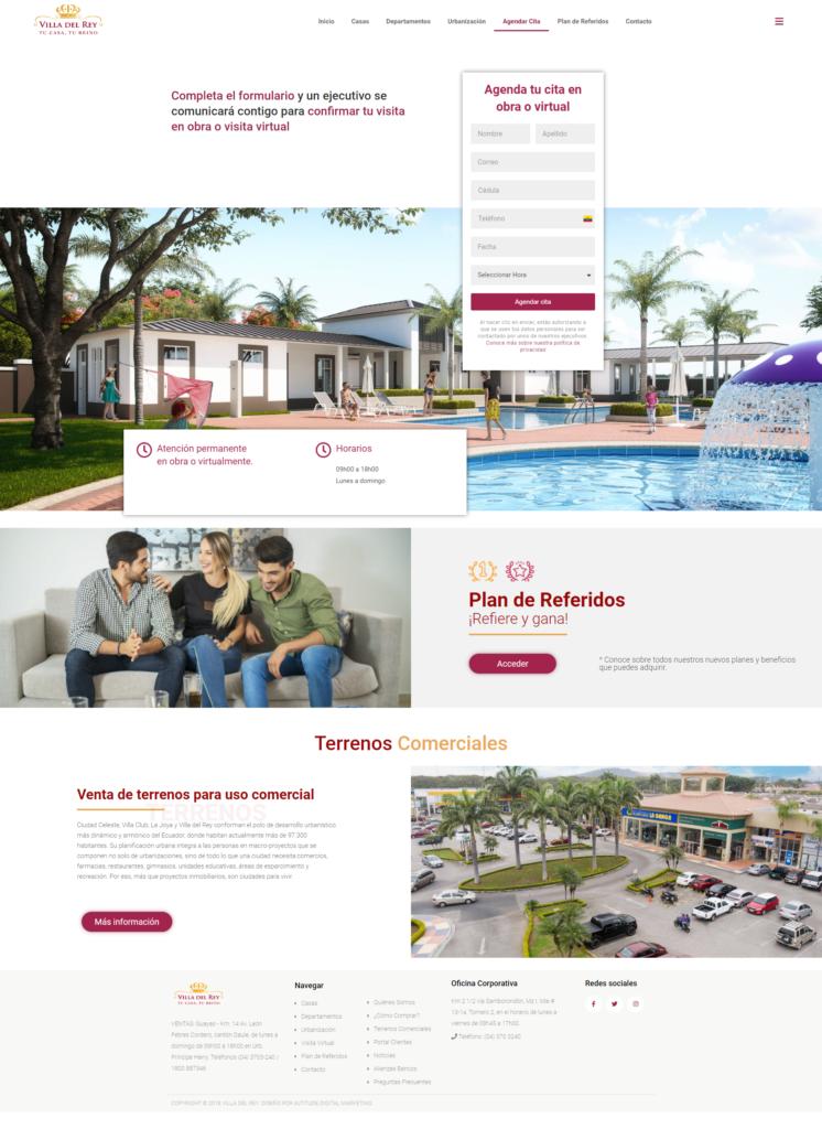 Landing Page De Villa Del Rey